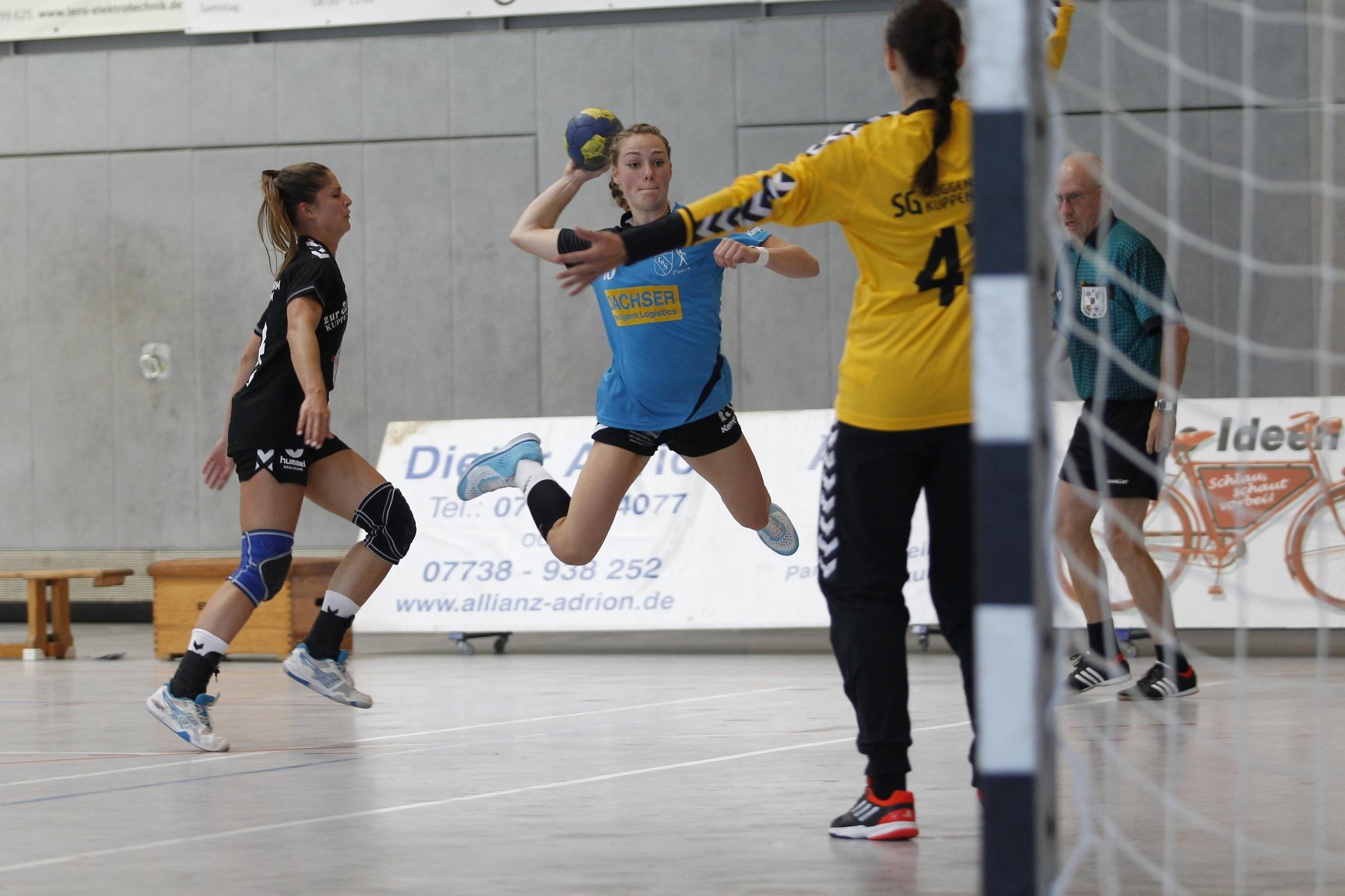 beim Spiel in der Südbadenliga zwischen dem TuS Steißlingen und x in der Mindlestalhalle in Steißlingen  Im Bild: Fabienne Wolf TuS Stei?lingen Damen