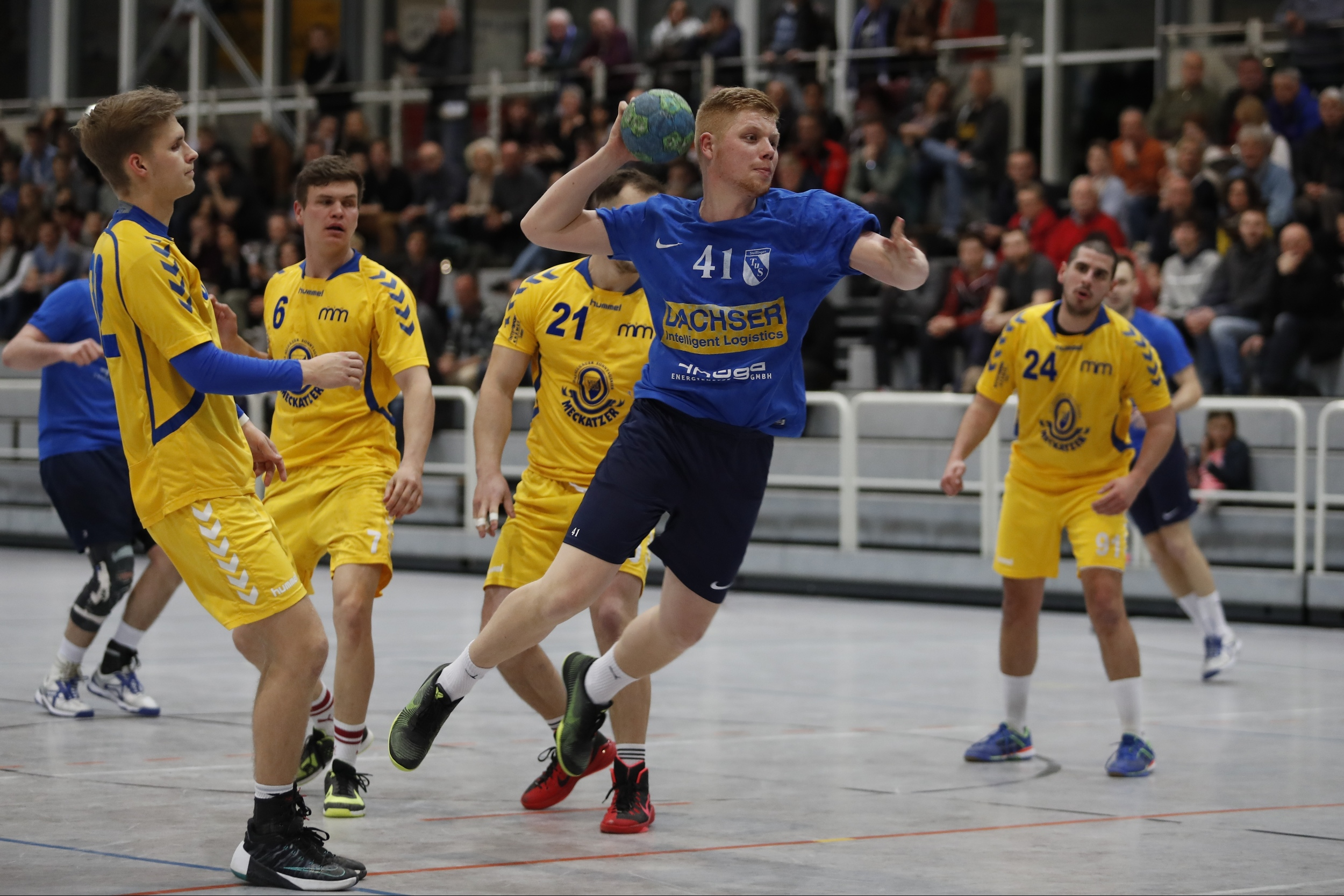 Im Bild:  Daniel Weber TuS Steisslingen  beim Spiel in der Südbadenliga zwischen dem TuS Steißlingen und der SG Mimmenhausen in der Mindlestalhalle in Steißlingen