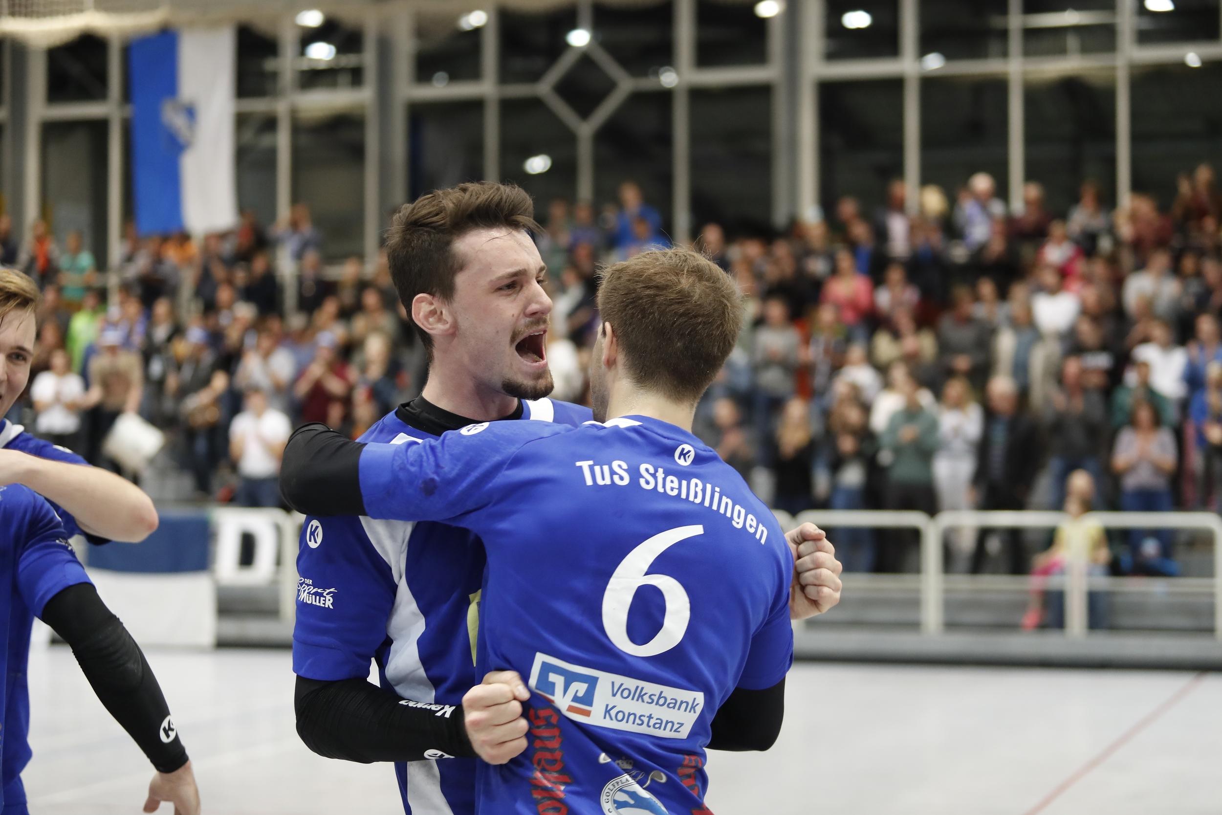 beim Spiel in der BW Oberliga zwischen dem TuS Steißlingen und der SG Pforzheim Euingen in der Mindlestalhalle in Steißlingen
