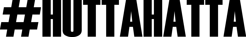 Schriftzug #huttahatta schwarz