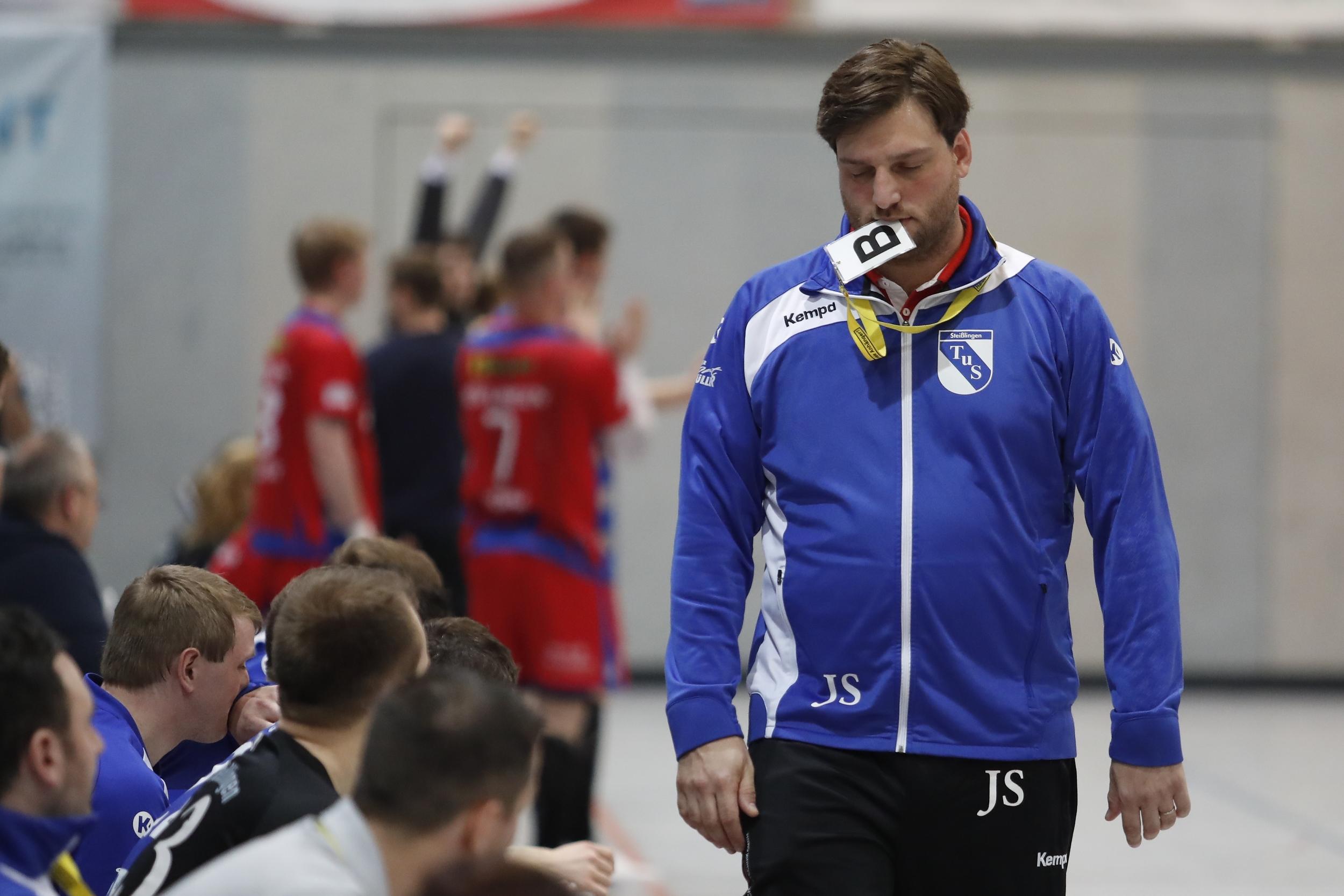 Jonathan Stich beim Spiel in der BW Oberliga zwischen dem TuS Steißlingen und der TSG Söflingen in der Mindlestalhalle in Steißlingen